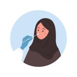 Swab woman hijab