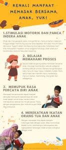 manfaat memasak bersama anak infografis